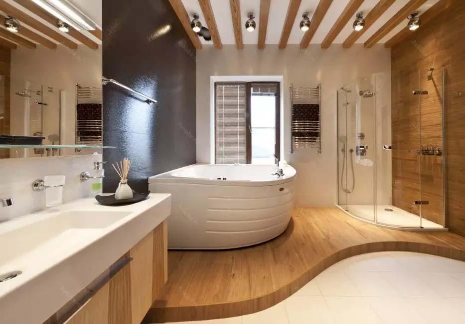 Ý tưởng tường tạo điểm nhấn phòng tắm: vật liệu, màu sắc và lựa chọn tường