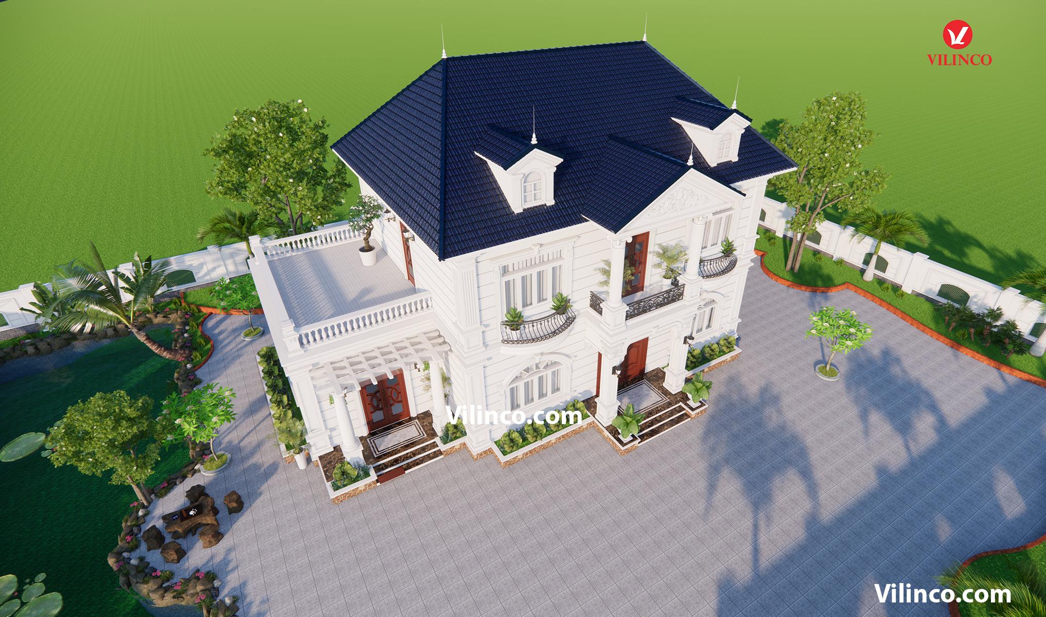 Mẫu Biệt thự 2 tầng đẹp tại Bắc Giang