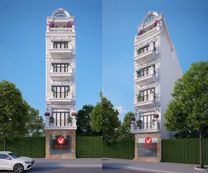 Hình ảnh của Mẫu nhà phố 5 tầng để ở kết hợp kinh doanh tại Hoàng Văn Thụ, Bắc Giang