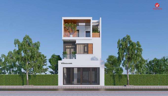Hình ảnh của Mẫu nhà phố 3 tầng mặt tiền 7m thiết kế theo phong cách kiến trúc hiện đại