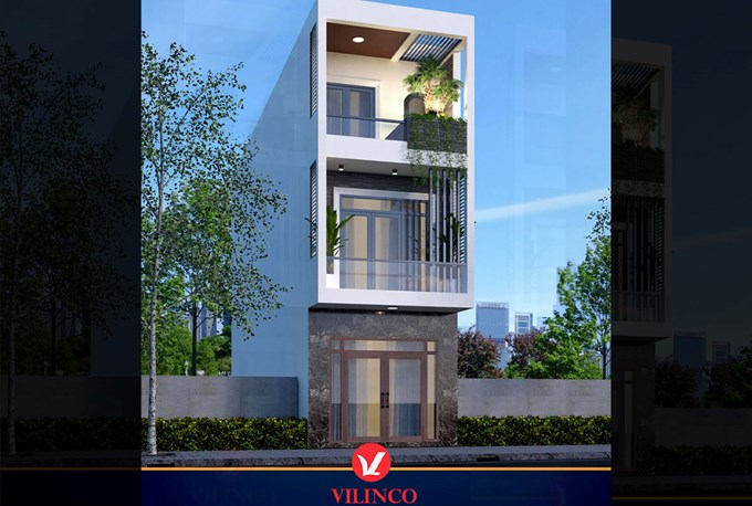 Hình ảnh của Thiết kế mẫu nhà phố 3 tầng mặt tiền 4.5m tại TP Bắc Giang