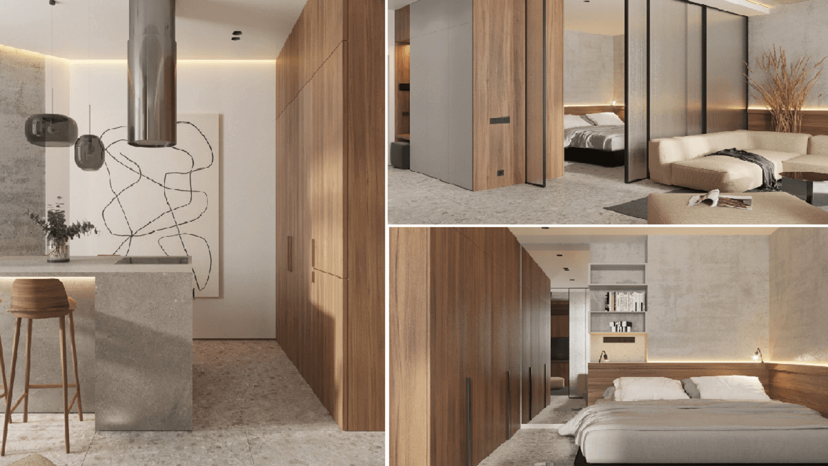 Mẫu thiết kế chung cư nhỏ tối ưu không gian đúng chất Minimalism