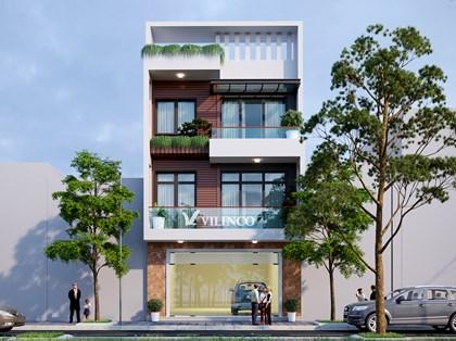 Hình ảnh của Mẫu nhà phố 3 tầng hiện đại của Chú Tuấn tại Bắc Giang