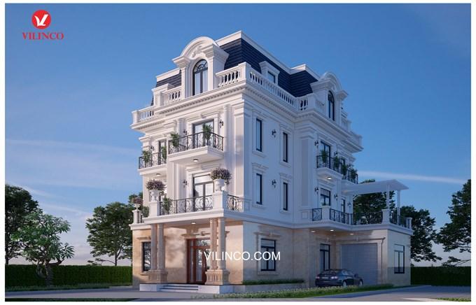 Hình ảnh của Mẫu Biệt thự 3 tầng mang phong cách Tân cổ điển tại Bắc Giang