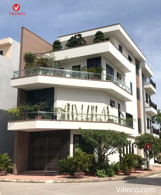 Hình ảnh của Thiết kế nhà phố lô góc 4 tầng 2 mặt tiền đẹp - hiện đại tại Bắc Giang