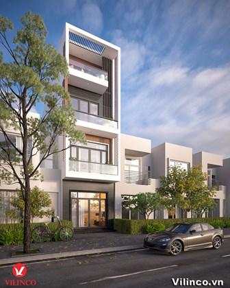 Hình ảnh của Thiết kế nhà phố 4 tầng hiện đại có mặt tiền 4.5M2 và tổng diện tích 76.5M2 tại Bắc Giang