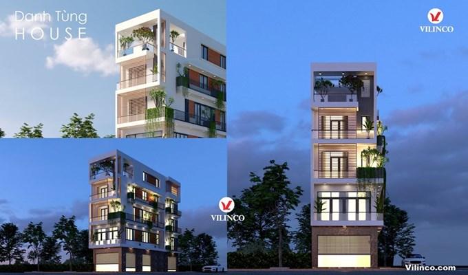 Hình ảnh của Nhà phố hiện đại đẹp độc đáo 5 tầng 2 mặt tiền tại TP Bắc Giang