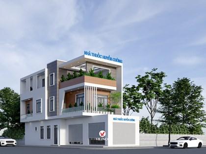 Hình ảnh của Thiết kế nhà phố 3 tầng hiện đại kết hợp kinh doanh tại Bắc Giang