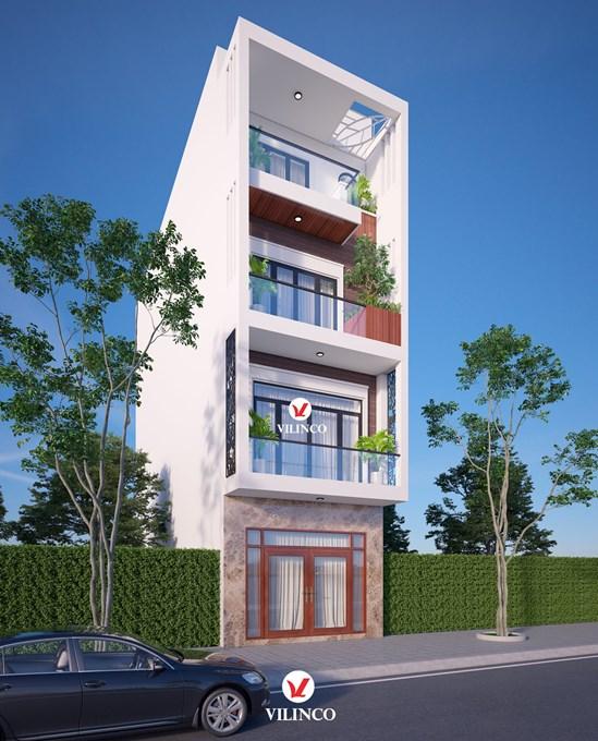 Hình ảnh của Thiết kế nhà ống 4 tầng hiện đại tại Bắc Giang