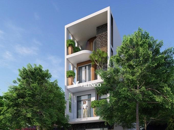Hình ảnh của Mẫu nhà phố 4 tầng đẹp hiện đại có bể cá - CĐT anh Sơn Lý ở Bắc Giang