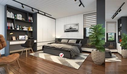 Hình ảnh của Thiết kế và thi công nội thất phòng ngủ cá tính cho bé trai kích thích tư duy sáng tạo
