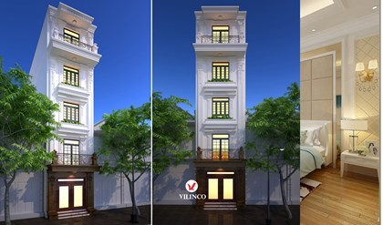 Hình ảnh của Thiết kế nhà phố 5 tầng Tân cổ điển tại Bắc Giang