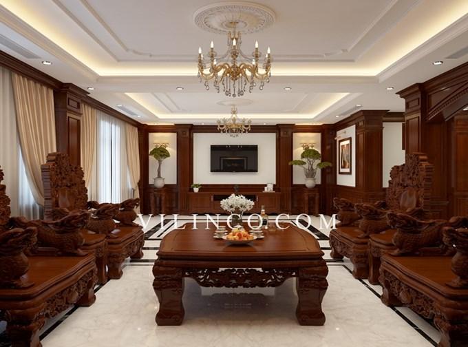 Hình ảnh của Thiết kế nội thất tân cổ điển nhà phố dự án Đại Hoàng Sơn Bắc Giang