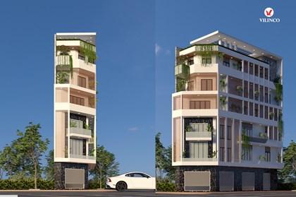 Hình ảnh của Mẫu thiết kế nhà phố 6 tầng 2 mặt tiền hiện đại kết hợp văn phòng
