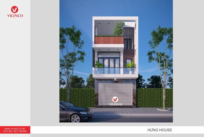 Hình ảnh của Mẫu nhà ống 3 tầng mặt tiền 5,5m hiện đại của mr. Hưng - TP Bắc Giang