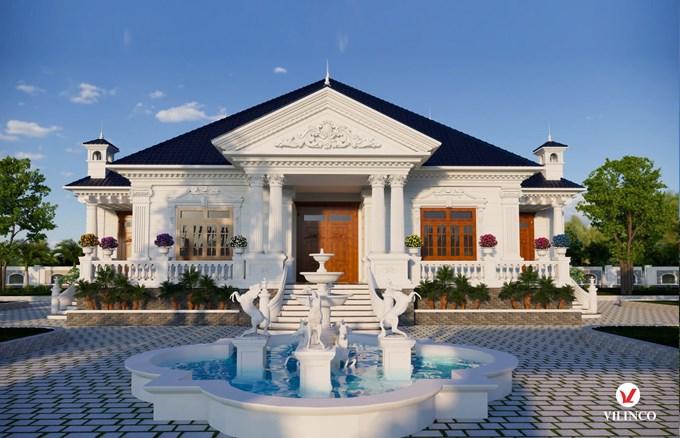 Hình ảnh của Mẫu Biệt thự mái thái 1 tầng có sân vườn diện tích 420m2 tại Lạng Giang - Bắc Giang