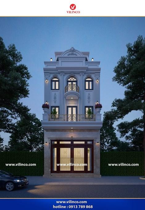 Hình ảnh của Mẫu nhà phố Tân cổ điển 3 tầng đẹp độc đáo tại Lục Ngạn Bắc Giang