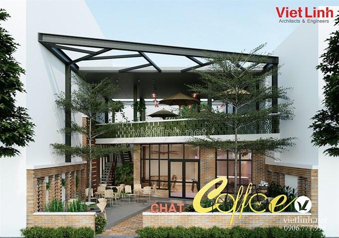 Hình ảnh của Thiết kế quán cafe sân vườn diện tích nhỏ đẹp xinh - Chat coffee